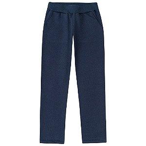 Calça Infantil Moletom Feminina Azul Marinho Kyly 206220