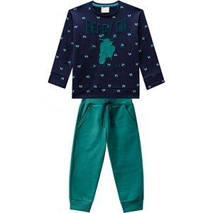 Conjunto Infantil Calça + Blusa Moletom Milon 11446