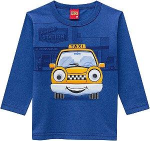 Blusa Infantil Manga Longa Taxi - Kyly 206703