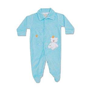 Macacão Plush Urso Pingo Lelê 65779 Azul