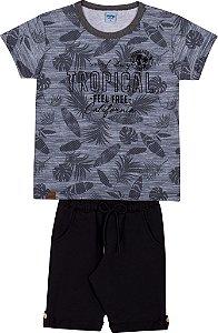 Conjunto Infantil Short Moletinho e Camiseta - Serelepe 6255