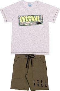 Conjunto Short Moletinho e Camiseta - Serelepe 6269