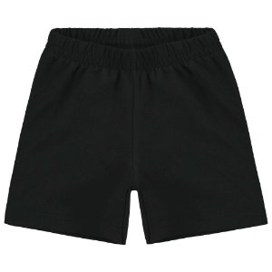 Short Infantil Cotton Preto - Kyly 107623