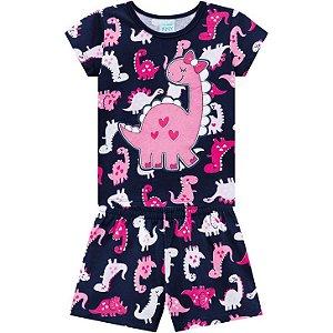 Pijama Infantil Dino - Azul Marinho  Kyly 110326