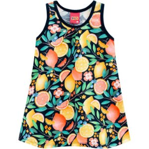 Vestido Infantil Regata Frutas - Kyly 110181