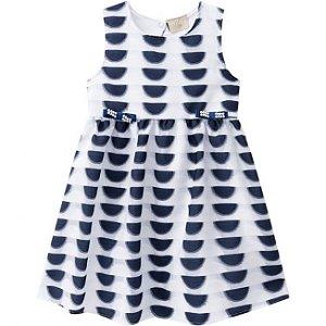 Vestido Infantil Organza Azul Milon 11098