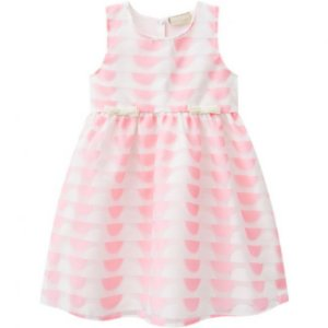 Vestido Infantil Organza Rosa Milon 11098