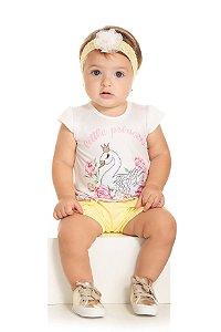 Conjunto Infantil Short + Blusa Regata - Serelepe 5507 Amarelo