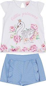 Conjunto Infantil Short + Blusa Regata - Serelepe 5507 Azul