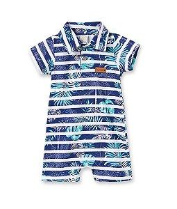 Macacâo Curto Gola Polo para Bebê Pingo Lelê 66373