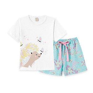 Pijama Infantil Short e Camiseta Manga Curta Pingo Lelê 76161