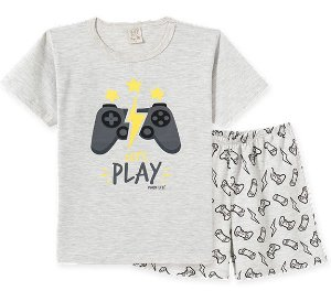 Pijama Infantil Camiseta e Bermuda Pingo Lelê 86160