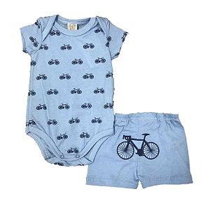 Pijama Bebê Body Curto + Short Pingo Lelê 86004