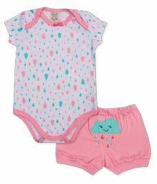 Pijama para Bebê Body Curto + Short Pingo Lelê 75054