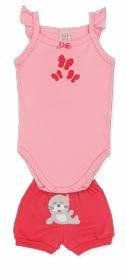 Conjunto Body Regata + Short Pingo Lelê 65900