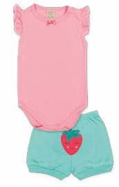 Conjunto Body Regata + Short Pingo Lelê 65884