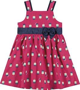 Vestido Infantil Curto Sorvetinho Pink Nanai 600013