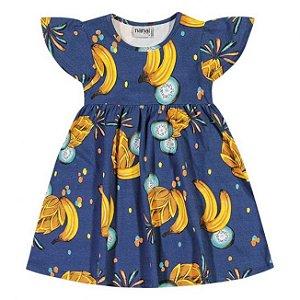 Vestido Infantil Cotton Azul Nanai 600249