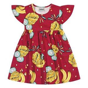 Vestido Infantil Cotton Vermelho Nanai 600249