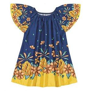 Vestido Infantil Floral Azul Nanai 600250