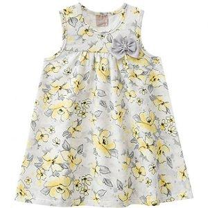 Vestido Infantil Floral Amarelo Milon 11253