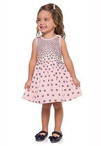 Vestido Infantil Rosa Milon 11068