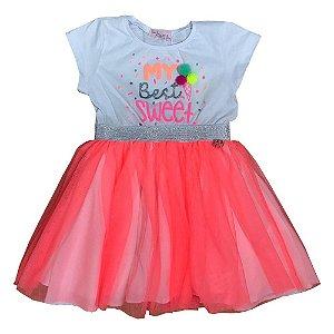 Vestido Infantil Tule Mon Sucre 7220