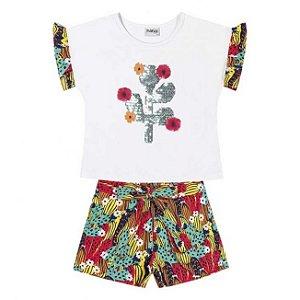Conjunto Infantil Blusa + Short Nanai 600281