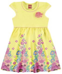 Vestido Infantil Amarelo Flores Kyly 109140