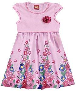 Vestido Infantil Rosa Flores Kyly 109140