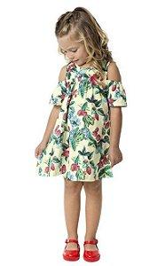 Vestido Infantil Amarelo Flores Kyly 109336