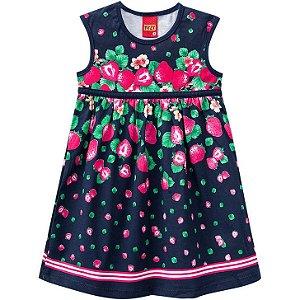 Vestido Infantil Morangos Kyly 109610
