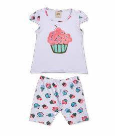 Pijama Infantil Short + Camiseta Cupcake Pingo Lelê 75039