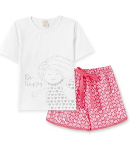 Pijama Infantil Short + Camiseta  Pingo Lelê 76054