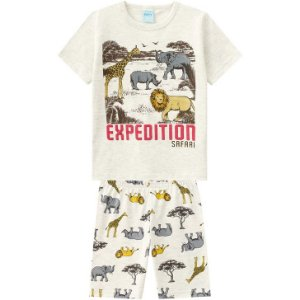 Pijama Verão Infantil Masculino Mescla Kyly  109796