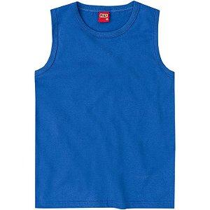 Regata Infantil Masculina em Meia Malha Azul Kyly 106305