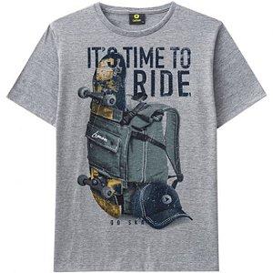Camiseta Teen Masculina em Meia Malha Lemon  80841