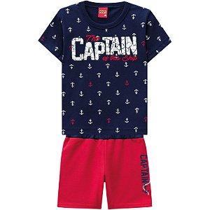 Conjunto Infantil Masculino Short Moletinho + Camiseta Kyly 109714