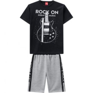 Conjunto Infantil Masculino Short Moletinho + Camiseta Kyly 109767