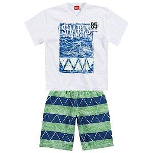 Conjunto Infantil Bermuda Tactel + Camiseta Kyly 108175