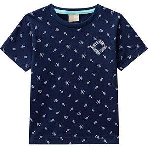 Camiseta Infantil Azul Marinho Milon 11788