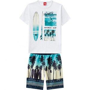 Conjunto Tenn Camiseta + Bermuda Tactel Kyly 109766