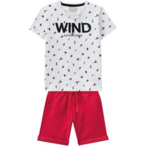 Conjunto Infantil Bermuda Moletinho + Camiseta Milon 11799