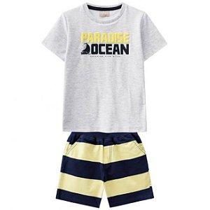 Conjunto Camiseta Mescla + Short Sarja Milon 11292
