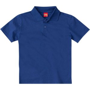 Camiseta Infantil Gola Polo Azul Kyly 107631
