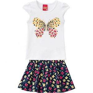 Conjunto Infantil Blusa + Short Saia Kyly 109628