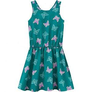 Vestido Infantil Regata Verde Kyly 109671