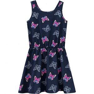 Vestido Infantil Regata Azul Kyly 109671