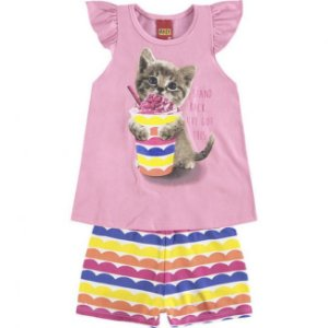 Conjunto Infantil Blusa + Short Kyly 109344