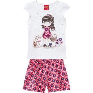 Conjunto Infantil Blusa + Short Kyly 109621